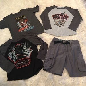 Star Wars shirt bundle with shorts